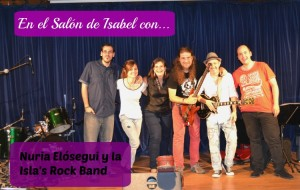 En el Salón con Nuria e Isla's Band