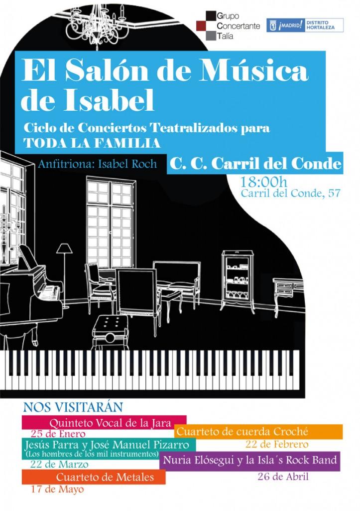 Ciclo de Conciertos teatralizados El Salón de Música de Isabel